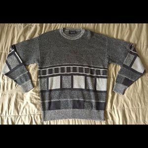 LONDON FOG TEMPO EUROPA Vintage Knit Sweater Sz L